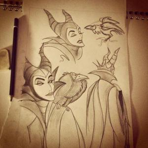 Maleficent sketches